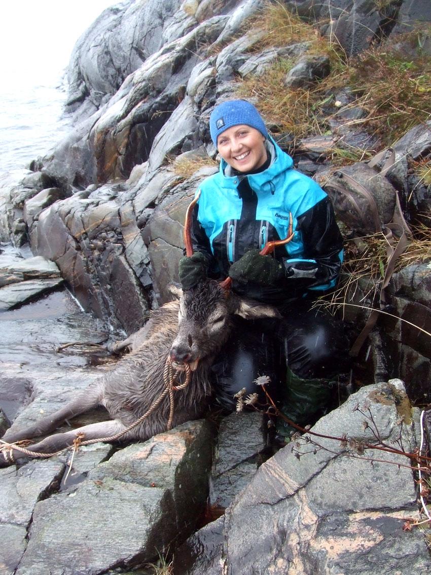 Camilla Almås har fått fangst. (Foto: privat)
