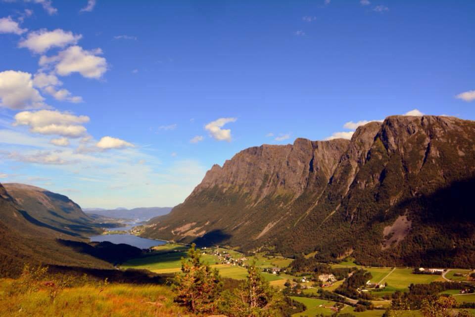 Utsikt frå vegen opp mot Regndalen. (Foto: Frank Andersen photography)